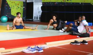 Pajulahden Nikula-hallissa treenasivat judokat Adrian Gandia ja Maria Perez